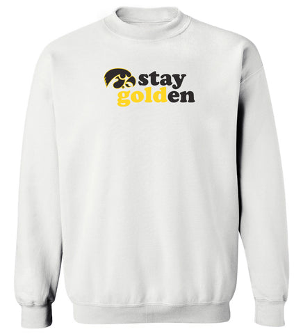 Women's Iowa Hawkeyes Crewneck Sweatshirt - Stay Golden