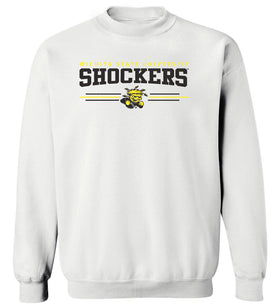 Women's Wichita State Shockers Crewneck Sweatshirt - Wichita State Shockers 3 Stripe