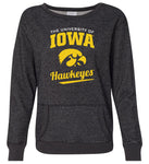 Women's Iowa Hawkeyes Premium Glitter Sweatshirt - The University Of Iowa Script Hawkeyes