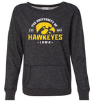 Women's Iowa Hawkeyes Premium Glitter Sweatshirt - The University of Iowa Hawkeyes EST 1847