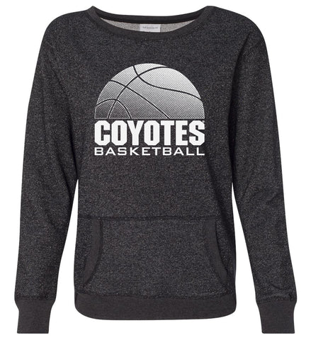 Women's South Dakota Coyotes Premium Glitter Sweatshirt - Coyotes Basketball