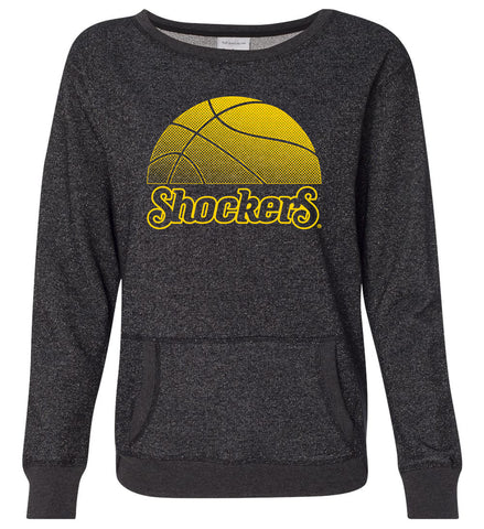 Women's Wichita State Shockers Premium Glitter Sweatshirt - WSU Shockers Basketball