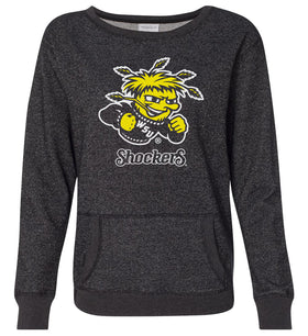 Women's Wichita State Shockers Premium Glitter Sweatshirt - Wu Shock Shockers