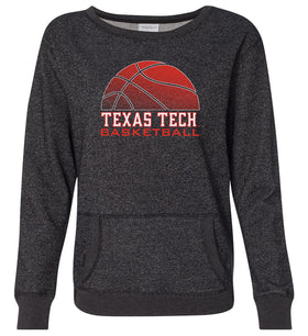 Women's Texas Tech Red Raiders Premium Glitter Sweatshirt - Red Raiders Basketball
