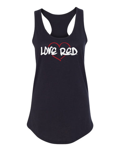 "Women's Nebraska Tank Top - ""Love Red"" Red Heart"