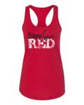 "Women's Nebraska Cornhuskers ""Go Big Huskers Love Red"" Racerback Tank Top"