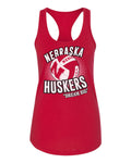 "Women's Nebraska Huskers Volleyball ""Dream Big"" Racerback Tank Top"