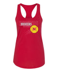 Women's Nebraska Huskers x 3 Softball Racerback Tank Top