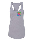 Women's Nebraska Rainbow N Racerback Tank Top