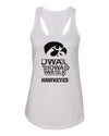 Women's Iowa Tank Top - Iowa Hawkeye State Outline