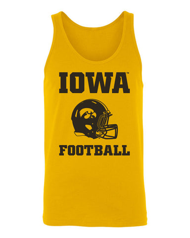 Women's Iowa Hawkeyes Tank Top - Iowa Football Helmet