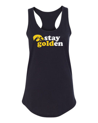 Women's Iowa Hawkeyes Tank Top - Hawkeyes Stay Golden