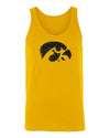 Women's Iowa Hawkeyes Tank Top - Tigerhawk Logo in Black Glitter