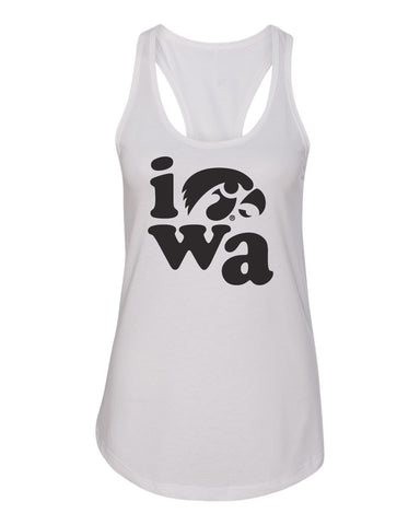 Women's Iowa Hawkeyes Tank Top - Iowa Stacked