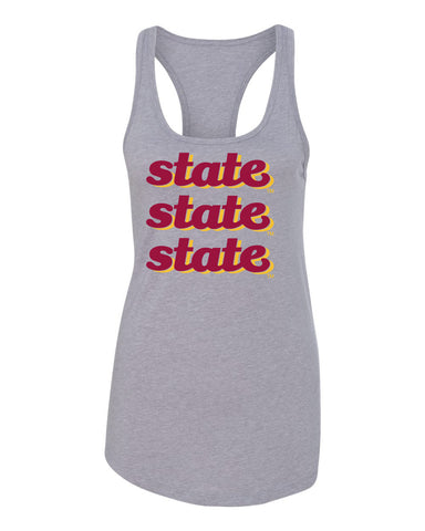 Women's Iowa State Cyclones Tank Top - State x 3