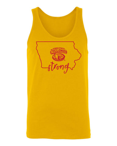 Women's Iowa State Cyclones Tank Top - Cyclones Strong State Outline