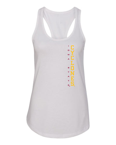 Women's Iowa State Cyclones Tank Top - Vertical Iowa State CYCLONES