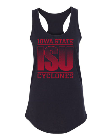 Women's Iowa State Cyclones Tank Top - ISU Fade Red on Black