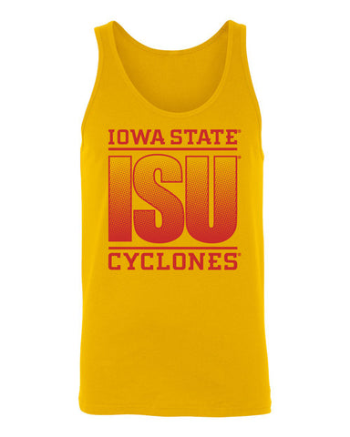 Women's Iowa State Cyclones Tank Top - ISU Fade Red on Gold