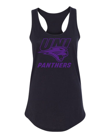 Women's Northern Iowa Panthers Tank Top - Purple UNI Panthers Logo on Black