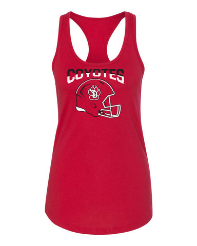 Women's South Dakota Coyotes Tank Top - USD Football Helmet