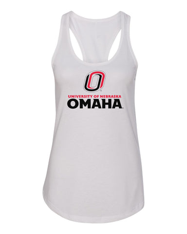 Women's Omaha Mavericks Tank Top - University of Nebraska Omaha with Primary Logo on White