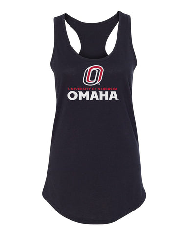 Women's Omaha Mavericks Tank Top - University of Nebraska Omaha with Primary Logo on Black