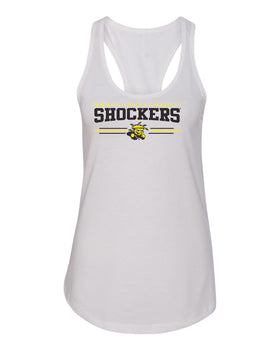 Women's Wichita State Shockers Tank Top - Wichita State Shockers 3 Stripe