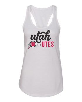 Women's Utah Utes Tank Top - Script Lower Case Utah Utes