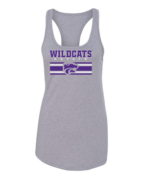 Women's K-State Wildcats Tank Top - Wildcats Stripe Powercat