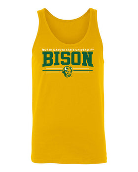 Women's NDSU Bison Tank Top - Bison 3-Stripe