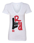 "Women's Nebraska Cornhuskers ""Love Red"" Deep V-Neck Premium Top"