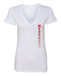 "Women's Nebraska Cornhuskers Vertical ""NEBRASKA"" Deep V-Neck Premium Top"