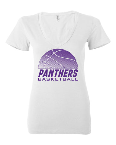 Women's Northern Iowa Panthers V-Neck Tee Shirt - Panthers Basketball
