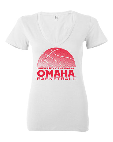 Women's Omaha Mavericks V-Neck Tee Shirt - UNO Basketball