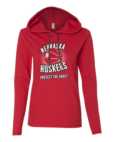 "Women's Nebraska Huskers Basketball ""Protect the Vault"" Long Sleeve Hoody"