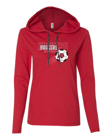 Women's Nebraska Huskers Soccer Long Sleeve Hoody