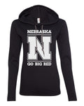 "Women's Nebraska Cornhuskers ""Nebraska N GO BIG RED"" Long Sleeve Hoody"