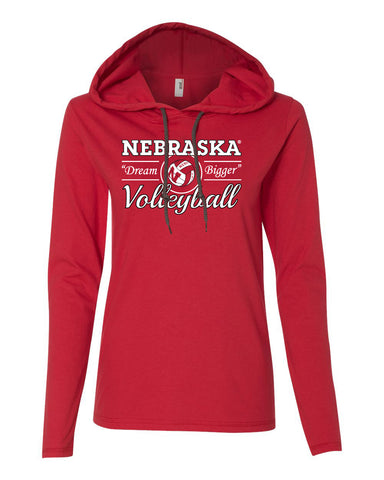 "Women's Nebraska Huskers Volleyball ""Dream Bigger"" Long Sleeve Hoody"