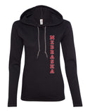 "Women's Nebraska Cornhuskers Vertical ""NEBRASKA"" Long Sleeve Hoody"