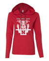 Women's Nebraska Husker Volleyball Spike Dog ROOF ROOF ROOF Long Sleeve Hoody