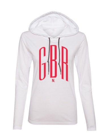 Women's Nebraska Huskers Long Sleeve Hooded Tee Shirt - Red GBR