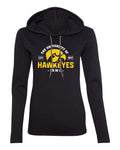 Women's Iowa Hawkeyes Long Sleeve Hooded Tee Shirt - The University of Iowa Hawkeyes EST 1847