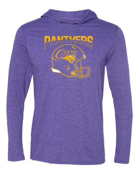 Women's Northern Iowa Panthers Long Sleeve Hooded Tee Shirt - UNI Panthers Football Helmet
