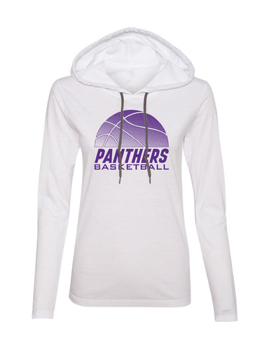 Women's Northern Iowa Panthers Long Sleeve Hooded Tee Shirt - Panthers Basketball