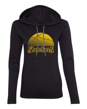 Women's Wichita State Shockers Long Sleeve Hooded Tee Shirt - WSU Shockers Basketball