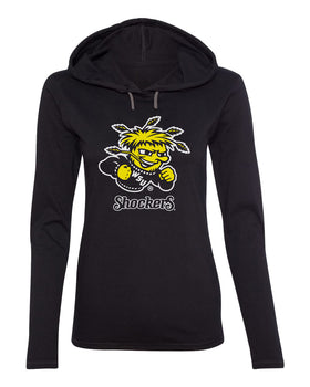 Women's Wichita State Shockers Long Sleeve Hooded Tee Shirt - Wu Shock Shockers
