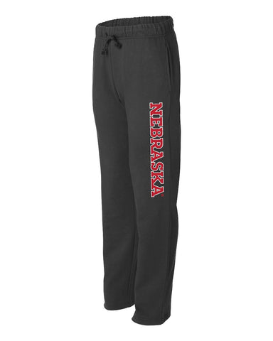 "Premium University of Nebraska Huskers ""NEBRASKA"" Sweatpants"