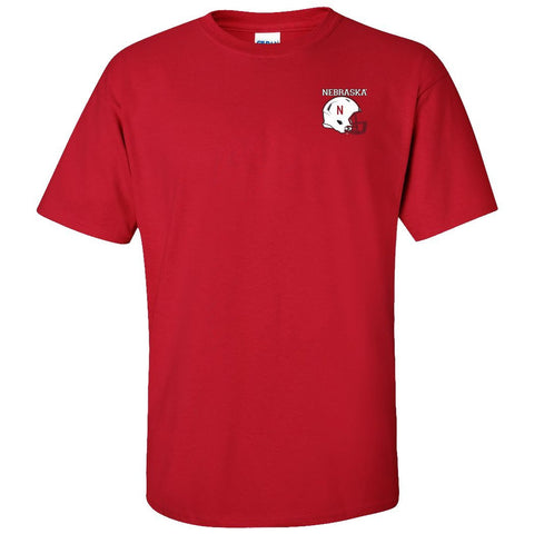 Nebraska Cornhuskers Football Helmet Tee Shirt