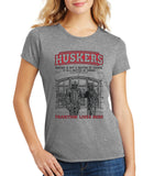 "Women's Nebraska Cornhuskers Football Tradition Lives Here ""Berringer & Osborne"" Premium Tri-Blend Tee Shirt"